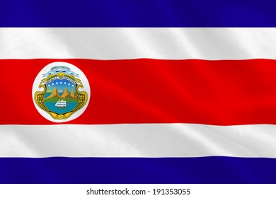 Costa rica national flag rippling