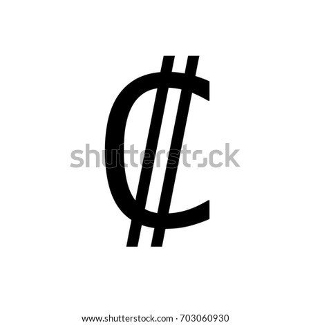 Costa Rican Colon Symbol Stock Illustration 703060930 Shutterstock