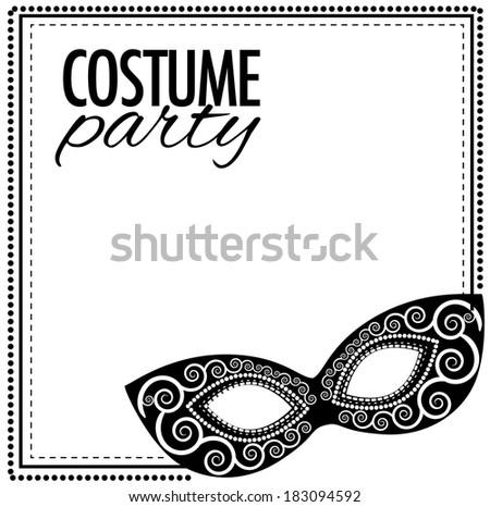 Costume Party Invitation Template Stock Illustration 183094592