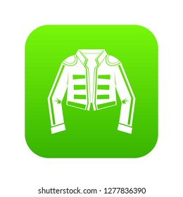 Costume of toreador icon digital green for any design isolated on white illustration