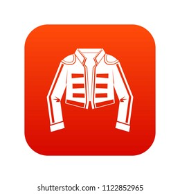 Costume of toreador icon digital red for any design isolated on white illustration