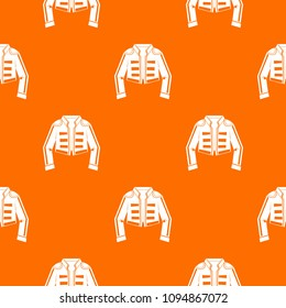 Costume of toreador pattern repeat seamless in orange color for any design. geometric illustration