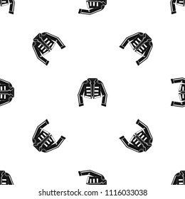 Costume of toreador pattern repeat seamless in black color for any design. geometric illustration