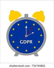 Countdown to General Data Protection Regulation (GDPR) -  European Union Flag Alarm Clock
