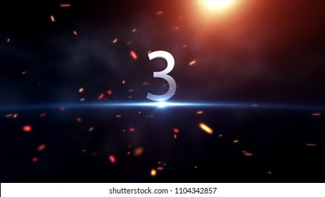 Countdown Motiongraphic 10 to 0. Countdown Start. Amazing countdown animation. Ready for race, event, party. Technological Countdown Intro.
