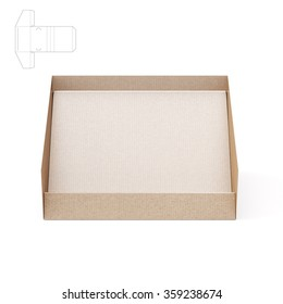 Counter Display Stand Box With Die Cut Template
