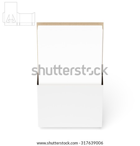 counter display stand die cut templates stock illustration 317639006