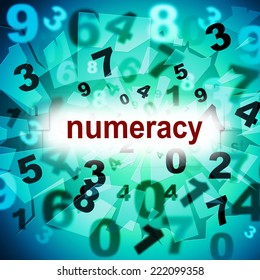 Counting Numeracy Indicating One Two Three And Calculate