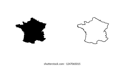 A Country Shape Illustration of France France