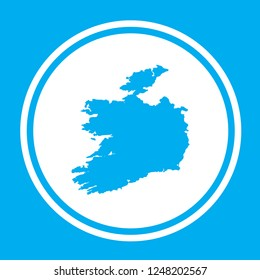 A Country Shape Illustration of Ireland