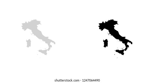 A Country Shape Illustration of Italy