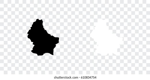 A Country Shape Illustration of Luxembourg