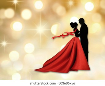 Couple dancing a waltz