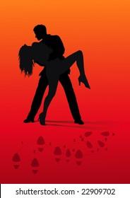 couple in a passionate latin dance