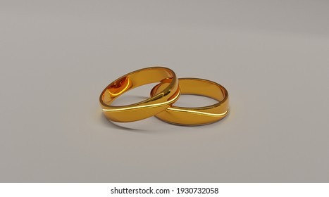 The couple ring is visible from the front