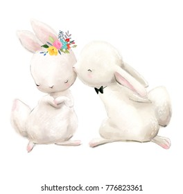 couple of white hares
