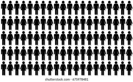 Couples statistics. Percentage concept.