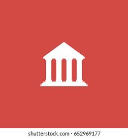 court icon. sign design. red background