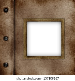 Cover Of album with frame for photo
