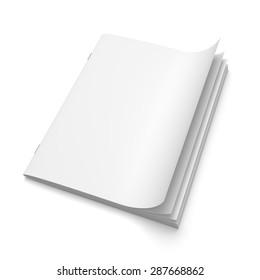 Cover empty magazine blank isolated on white background