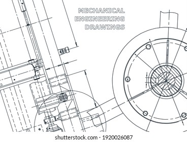 Cover, flyer, banner. Engineering illustration. Technical illustrations, backgrounds