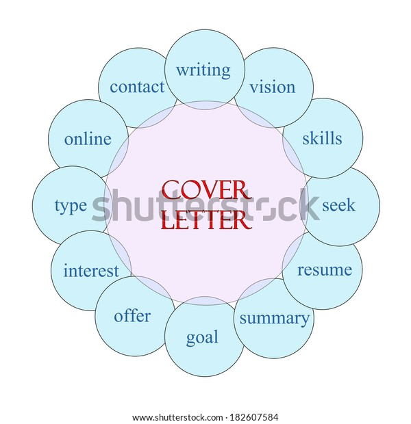 cover letter concept circular diagram pink stock form letter template cover letter diagram #14