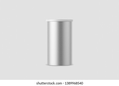 Cover metal round tin, round Tin Can mock-up.3D rendering.