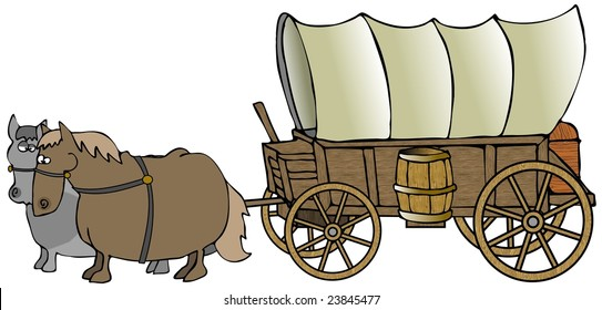 covered wagon images stock photos vectors shutterstock rh shutterstock com pioneer wagon clipart free pioneer wagon wheel clipart