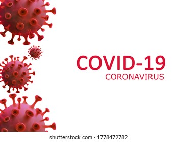 COVID-19 Coronavirus text on white background. Pandemic Protection Concept.