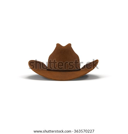 Cowboy Hat Front View On White Stock Illustration - Royalty Free ... 901028c5f60