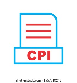 CPI file Isolated On Abstract Background
