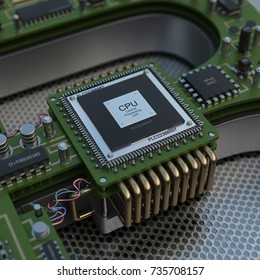 Cpu processing. High resolution 3D render