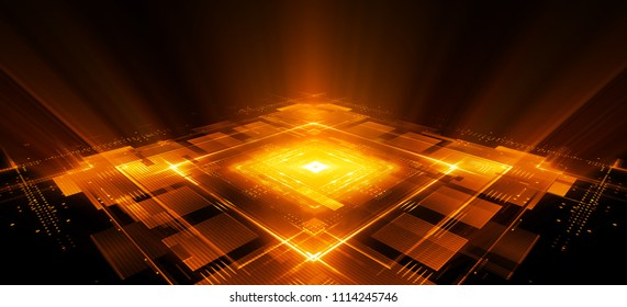 CPU socket. Modern technology. Big data center. Mobile device. Red Light effect. Future microcontroller. Blocks and cubes. Energy grid Super system. Virtual reality. Digital signal. Overclock module