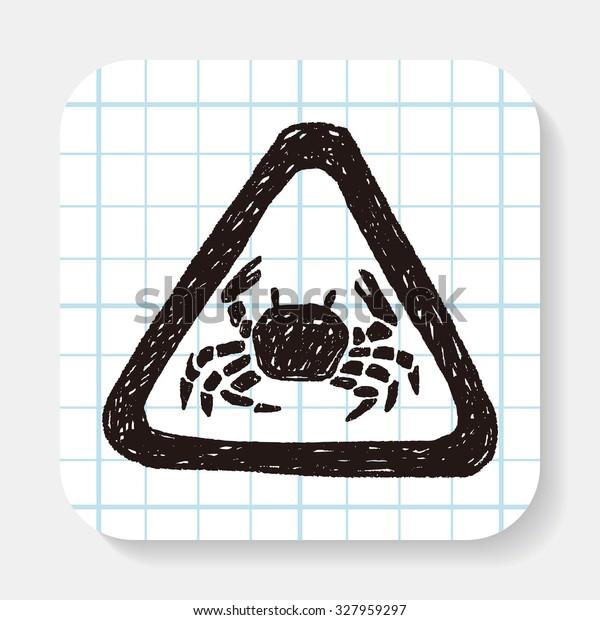 Crab doodle