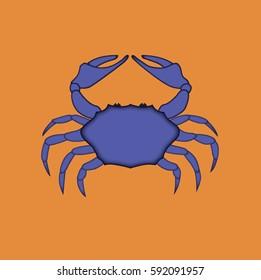 Crab illustration/Blue crab