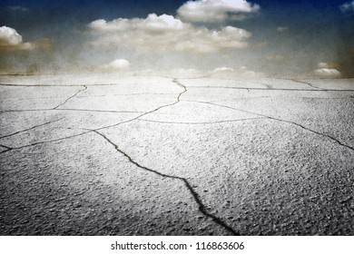 Cracked earth, grunge dirty background