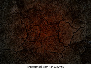 cracked ground for background. volcano background