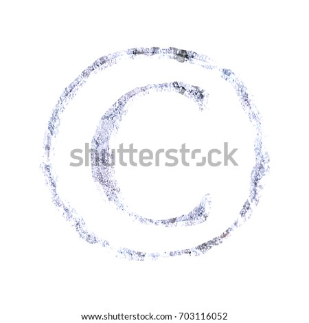 Cracked Ice Style Copyright Symbol C Stock Illustration 703116052