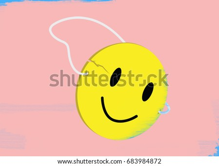Royalty Free Stock Illustration Of Cracked Smiley Face Mask Stock