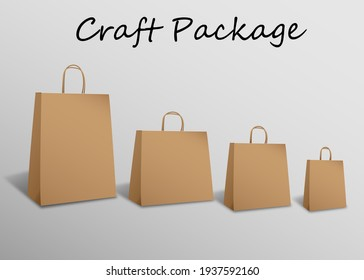 craft package mockup on a gray background
