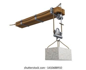 Crane arm, 3D illustration