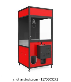Crane Claw Machine Games Isolated. 3D rendering