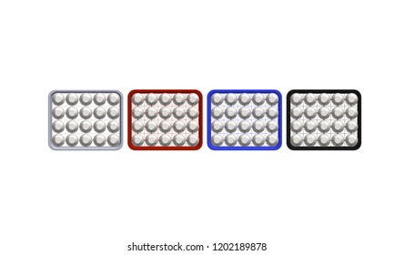 crate of basket of bottle water 3D icon on white texture background