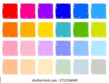 Crayon Rectangle Texture Background Set