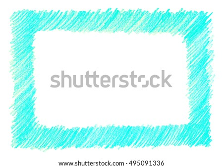 crayon scribble mint background blue green stock illustration