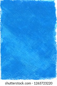 Crayon texture background blue