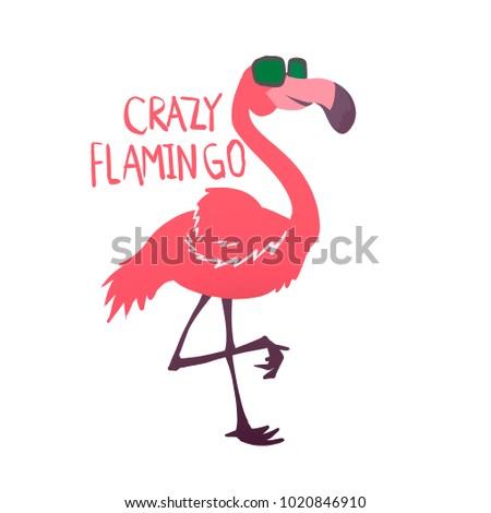 610cf33837e3 Crazy Flamingo Sunglasses Stock Illustration 1020846910 - Shutterstock