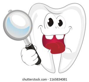 crazy teeth hold a mirrow