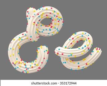 Cream candy font
