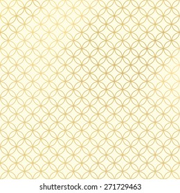 Cream and Gold Rings Pattern or Background
